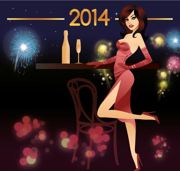 Fiesta Año Nuevo 2014 - Vector