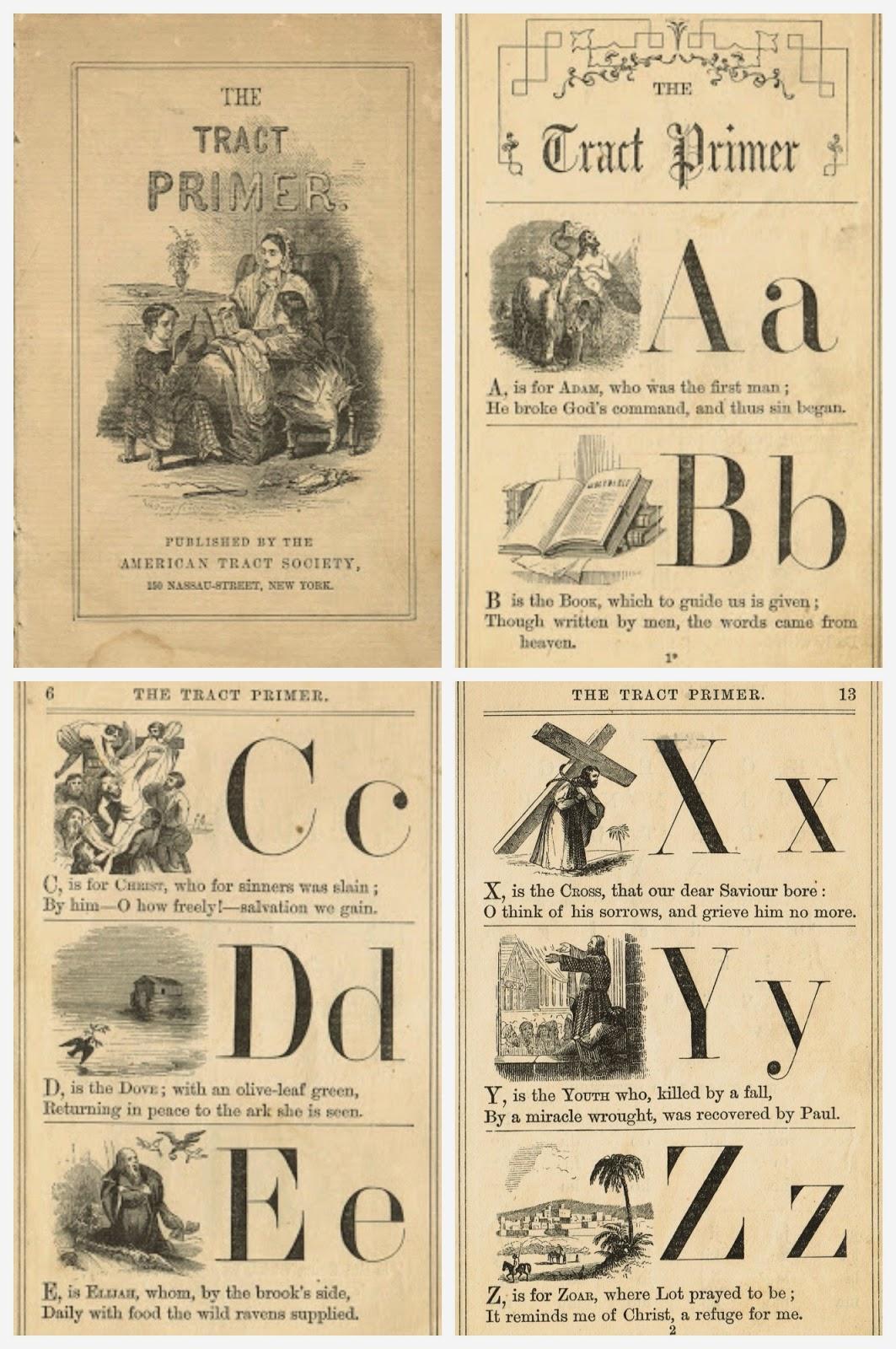Alphabet School Primer Pages