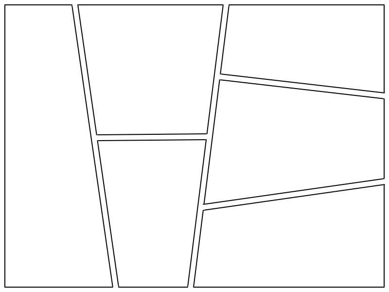 using the program you can create a blank comic page with constant frame line thickness