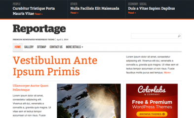 Reportage v1.2.3 - ColorLabs WordPress Theme