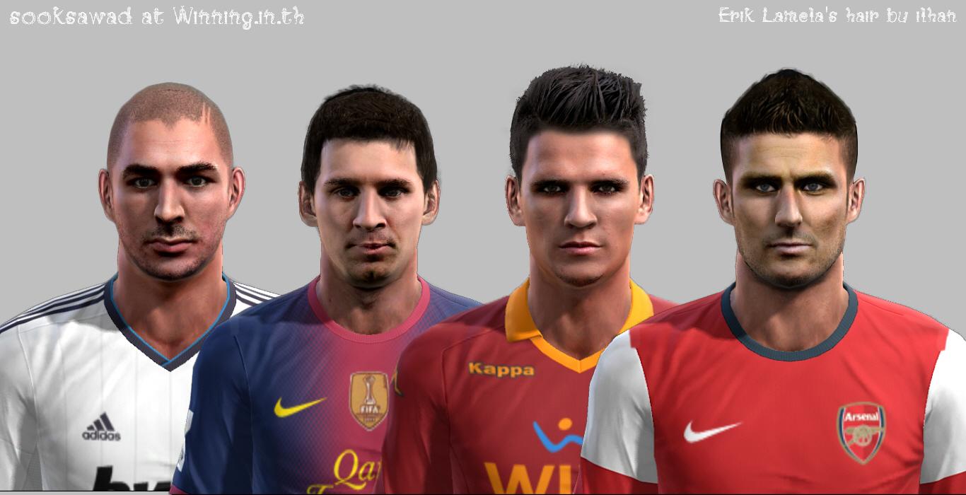 Karim Benzema, Lionel Messi, Erik Lamela e Olivier Giroud Faces - PES 2013