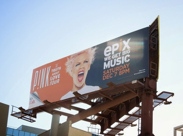 Pink Truth About Love Tour Epix billboard