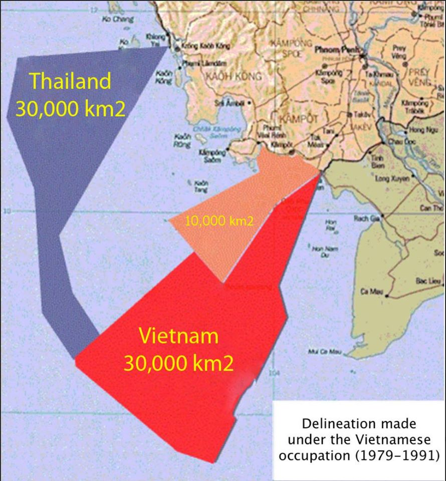 Disputed Cambodia's territorial waters