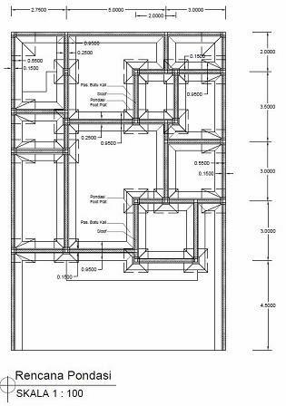 Jasa Desain Gambar Murah: Desain Gambar Rencana Balok kolom struktur ...