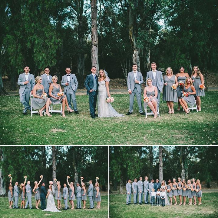 """wedding party at chic los angeles wedding"""