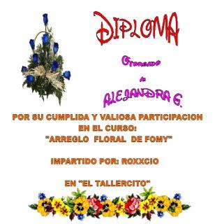 DIPLOMA: Arreglo Floral en Fomy