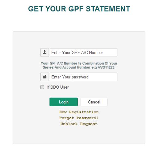 Get GPF Statement
