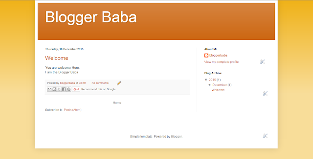 Blogger Baba page