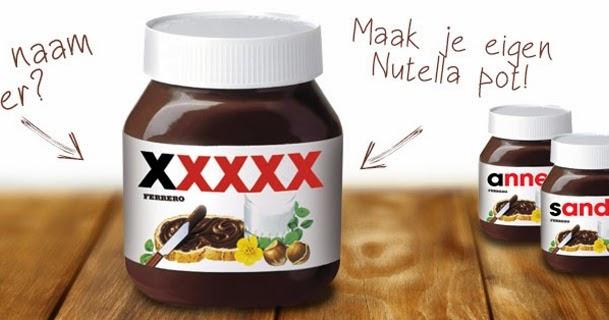 Pot Nutella met eigen naam - Miszbloggie