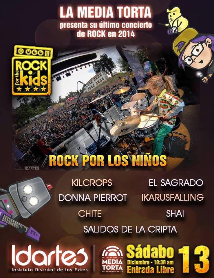 La media torta presenta en Diciembre 13 2014 : Rock for the kids