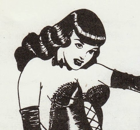 Miss Bettie Page as Comic Character