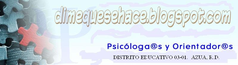 Orientadores y Psicólogos del Distrito Educativo 03-01, Azua
