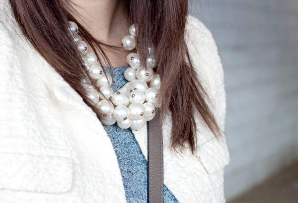 Pearl statement necklace from Zara