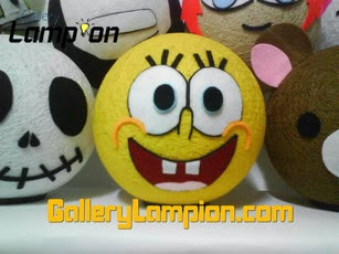 lampu-lampion-hias-benang-jahit-karakter-spongebob