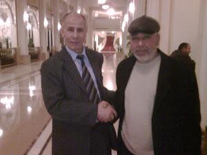 جمعة غيث ورئيس الحزب بشير رجب الاصيبعي