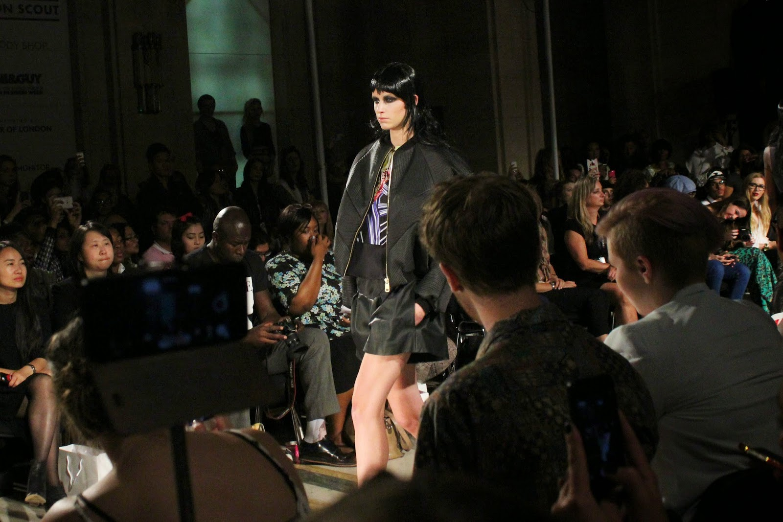 london-fashion-week-2014-lfw-spring-summer-2015-blogger-fashion-Dora-Abodi-catwalk-models-freemasons hall-fashion-scout-top-skirt-jacket