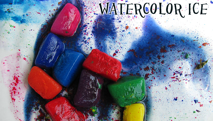 Painting With Watercolor Ice