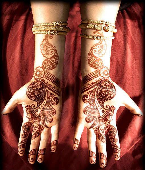 Beautiful Arm Mehndi Designs : Latest arabic arm mehndi desings