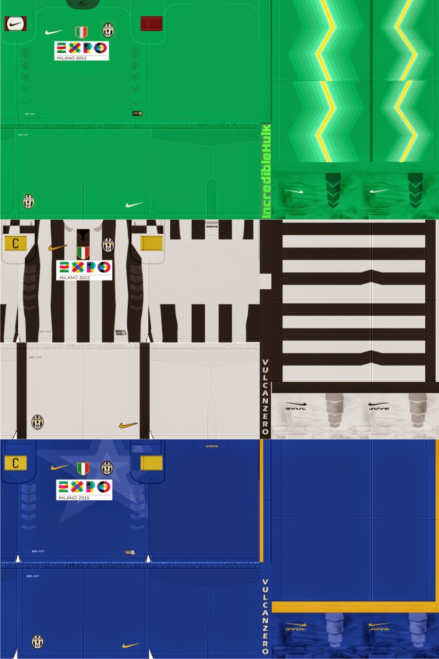 PES 2013 Juventus Sponsor Expo Milano Kits by Bocampeon