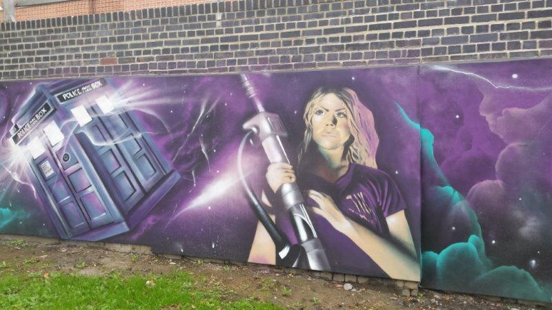 My French Easel Mural in Cambria Bridge Road Swindon England