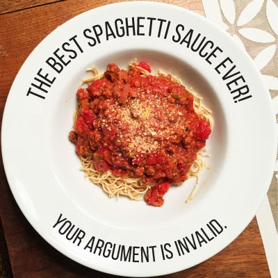 You guys, my mom makes THE BEST spaghetti sauce.