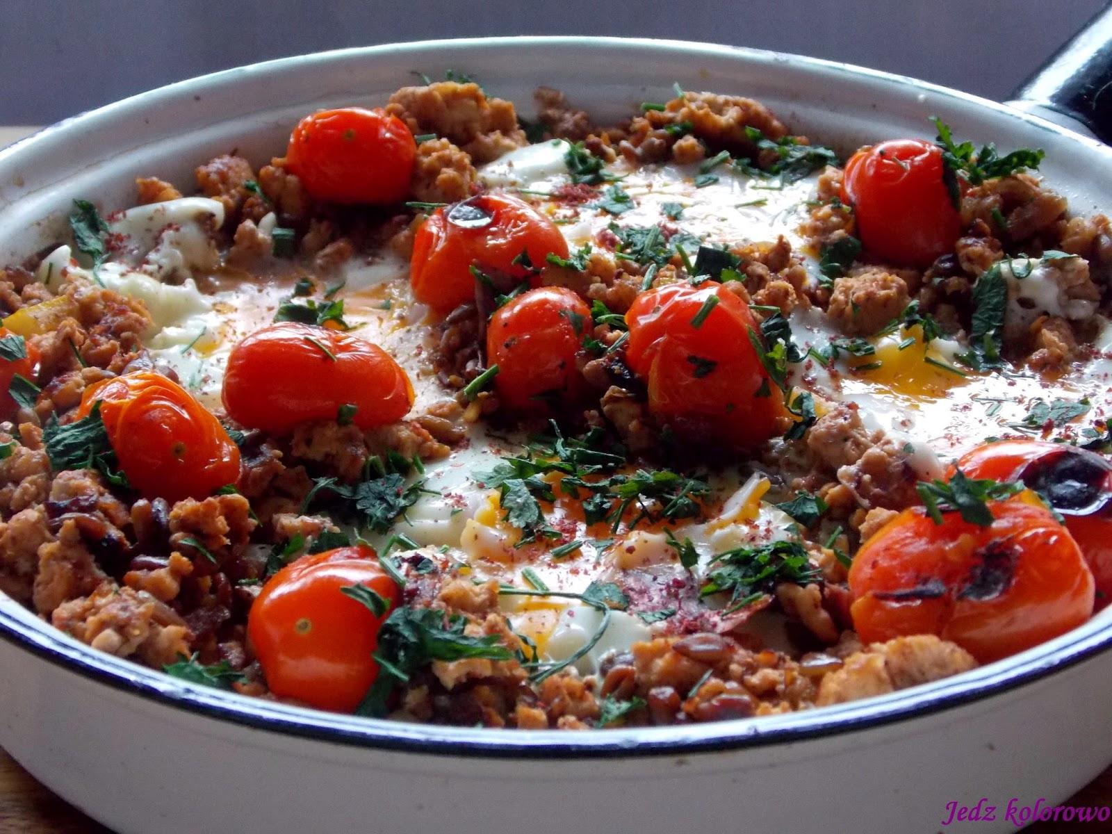 mięso i jajka po jerozolimsku