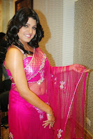 Tashu Kaushik transparent saree navel still - 3