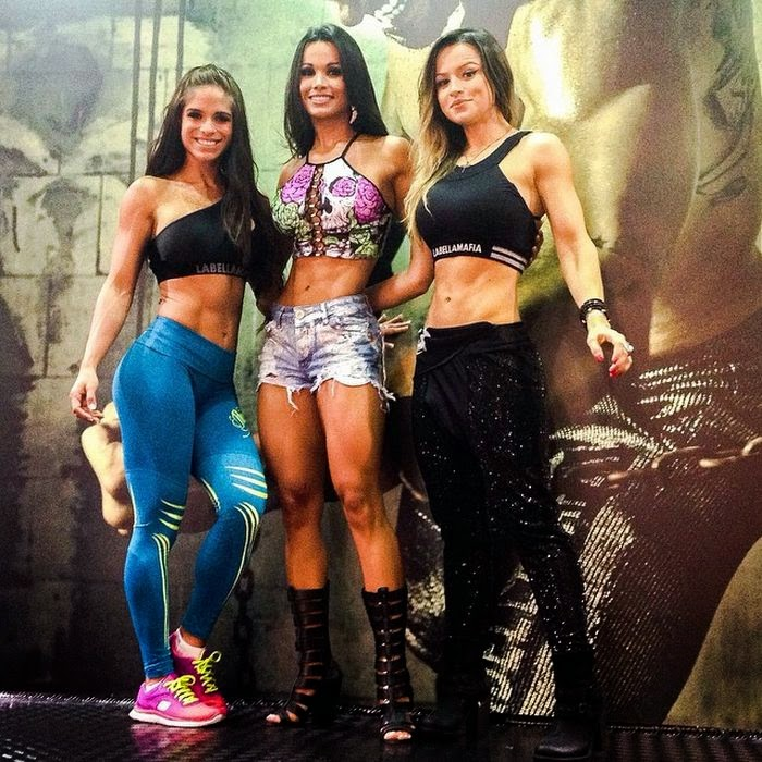 Michelle Lewin, Fernanda d'Avila and Alice Matos