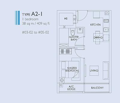 28RC Suites 1 Bedroom Floor Plans