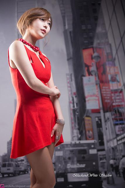 4 Hot Red - Im Min Young - very cute asian girl - girlcute4u.blogspot.com