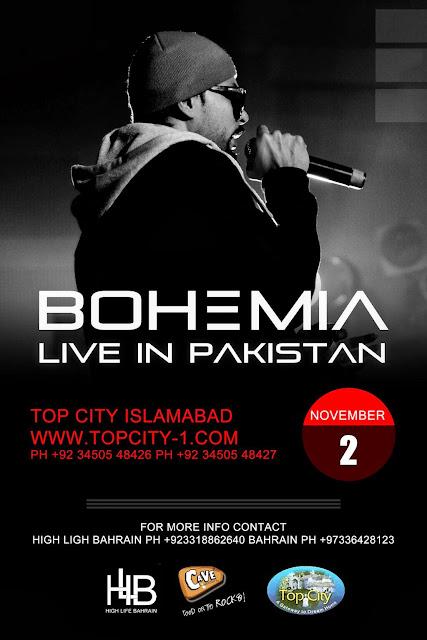 BOHEMIA LIVE IN PAKISTAN - NOVEMBER 2ND 2013