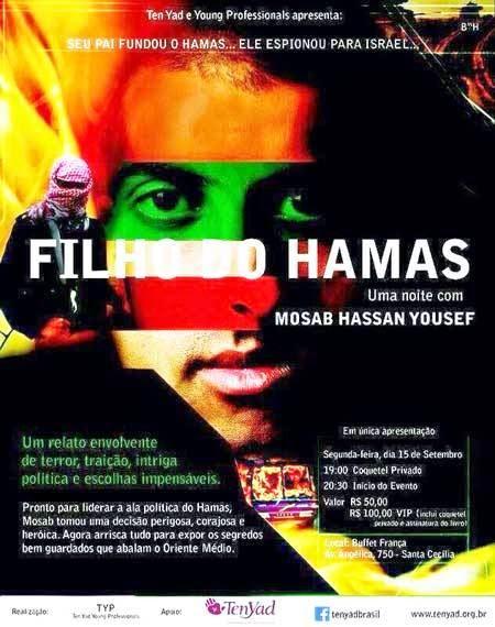 """""""Filho do Hamas"""" fará palestra em São Paulo"""