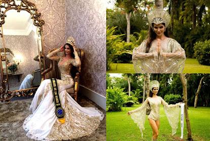 A modelo Roseni Missawa foi a 2ª colocada no concurso Reina Internacional de Los Mares e Turismo, e
