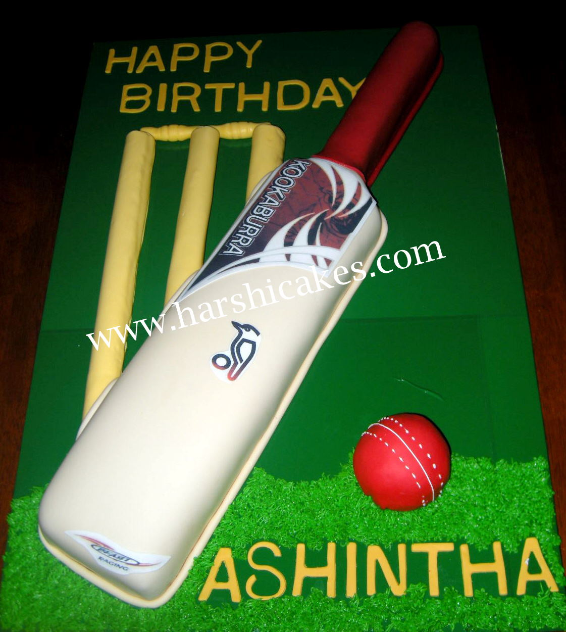 Harshi s Cakes & Bakes: Kookaburra Cricket Bat for Ashintha