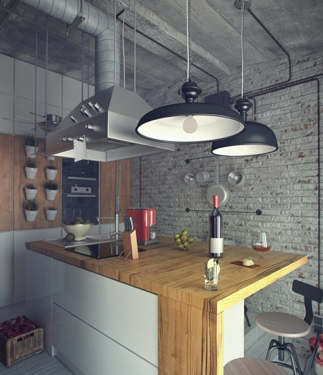Kitchen visualization of Raw Loft Visualization by Maxim Zhukov