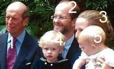 Duc de Kent, Lord et Lady Nicholas Windsor et leurs fils- famille royale britannique-Saxe-Cobourg-Gotha