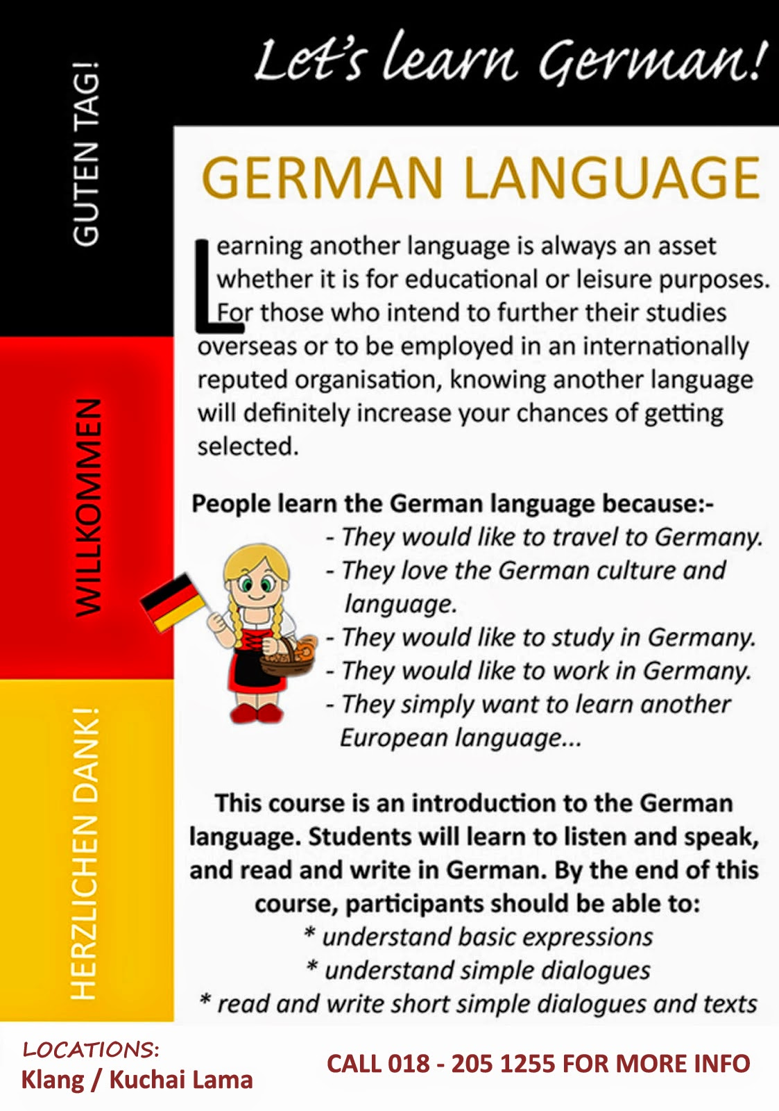 essay on germany in german language German is famous for its compound nouns in an essay on the germany language, mark twain observed: some german words are so long that they have a perspective.