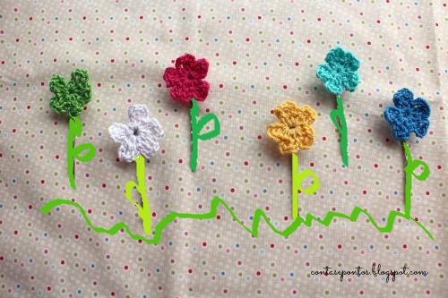 ganchos em crochet - handmade hair clips in crochet
