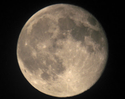 full moon through telescope