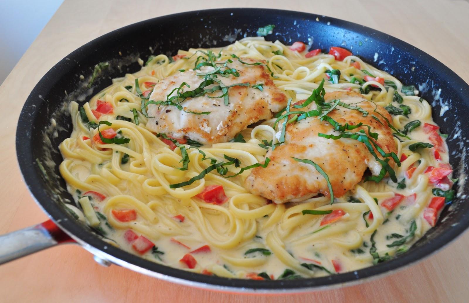 how to make tuscan chicken pasta