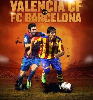 InfoDeportiva - Informacion al instante. REPETICION VALENCIA VS FC BARCELONA. Goles, Resultados, Estadisticas, Online
