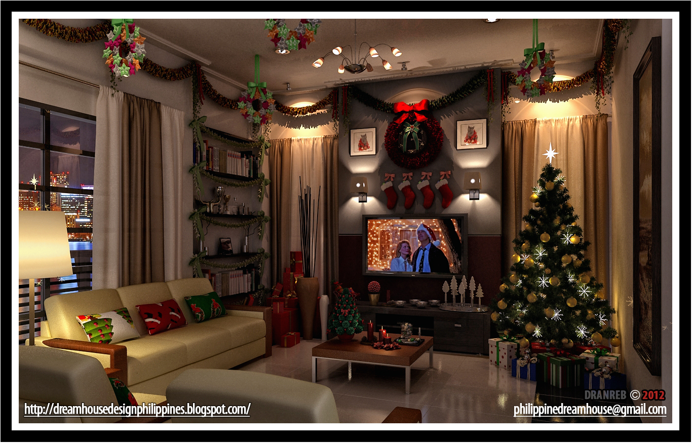 Philippine dream house design living room christmas for Living room ideas philippines