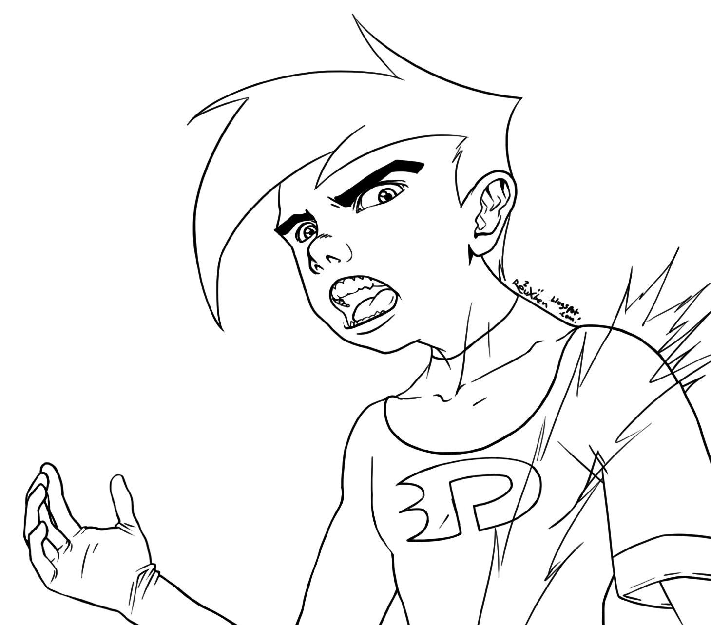 Removal Fun Phantomme Danny Phantom Coloring Pages