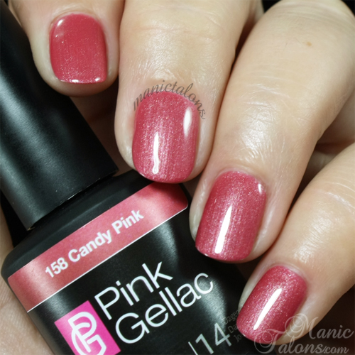 Pink Gellac Gel Polish Candy Pink Swatch