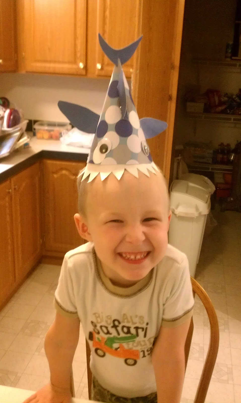 Easy Crazy Hat Day Ideas Homemade shark party hats!