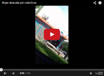 Atraco de colectivos motorizados a una chavista saliendo del banco - VIDEO
