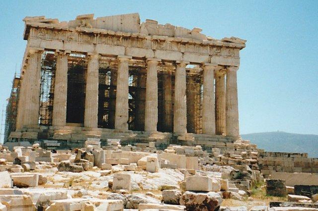 El Partenon en la Acropolis de Atenas