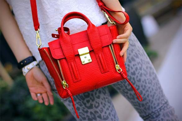 3.1 Phillip Lim Pashli Mini Satchel in red
