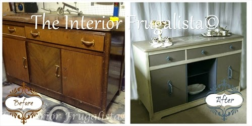 Vintage Sideboard Buffet Before and After