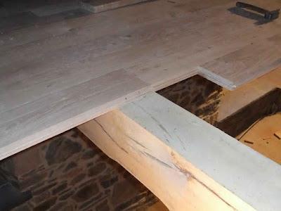 Plancher en bois massif